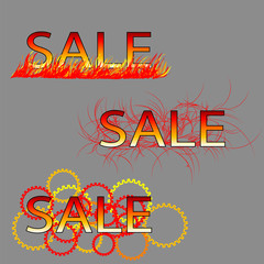 set of three sale text