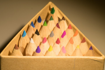 Crayons in a triangle