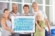 Stichwortwolke zum Thema Fitness mit Senioren