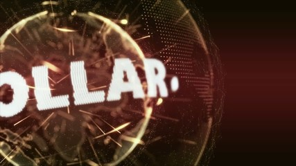 World News Dollar currency Intro Teaser red orange