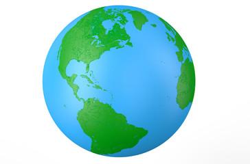 Earth globe, side of America 2