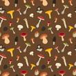 Mushroom seamless pattern - 78336267