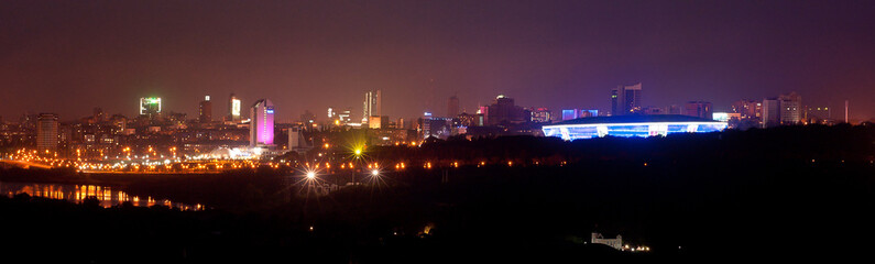 Night Donetsk, Ukraine