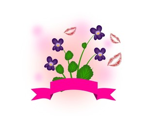 Violet decoration