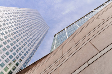 Modern buildings in Canary Wharf