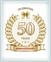 Greeting card with the 50th anniversary