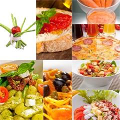 healthy Vegetarian vegan food collage