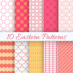 Eastern seamless pattern set. Vector illustration for holiday