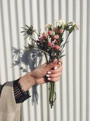 Strauß alter Blumen