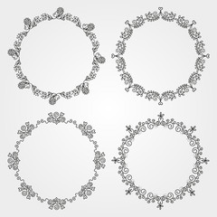 Set  of circle borders