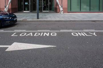 Loading only bay empty space, UK