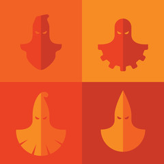 Set of vector icons of some executioner masks