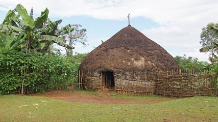 Dorf der Sidama, Äthiopien, Afrika