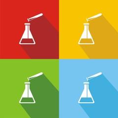 Icono química colores sombra