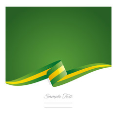 New abstract Brazil flag ribbon