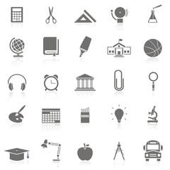 25 iconos sobre educación FB reflejo