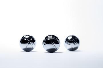 Three paetanque balls