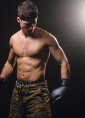 Boxer man posing