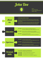 modern cv template with puzzle design