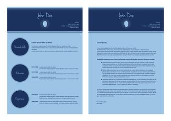 modern cv template, special resume design