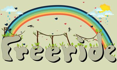 Freeride sign illustration