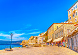 the pictorial port of Hdra island in Greece. HDR processed poster