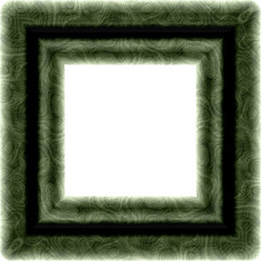 Isolated green textured square frame