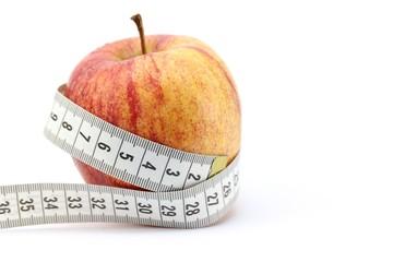 Apfel mit Maßband - Konzept