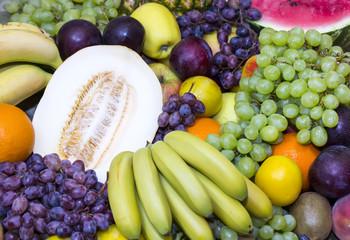 background of fresh fruits