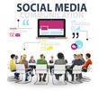 canvas print picture - Social Media Social Networking Technology Connection Concept