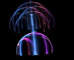 Artistic mushroom shaped abstract fractal