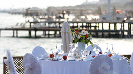Restaurant Table by the Sea