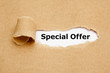 Leinwandbild Motiv Special Offer Torn Paper