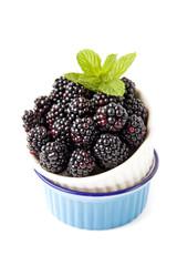 ripe blueberries in bowl