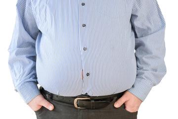 Mann mit aufgeplatztem Hemd