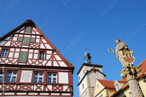 In de dag Fontaine Kapellenplatz Seelbrunnen 91541 Rothenburg o. d. Tauber
