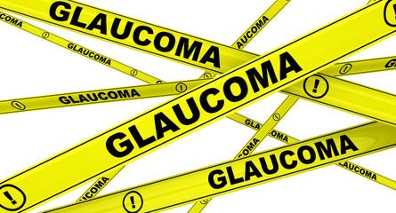 Глаукома (glaucoma). Желтая оградительная лента