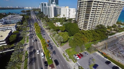 Bal Harbour Florida aerial video
