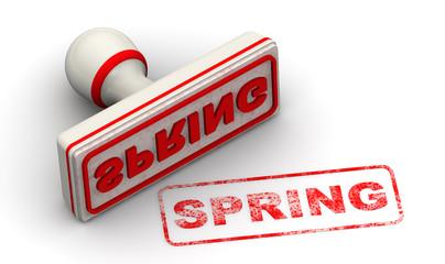 Весна (Spring). Печать и оттиск