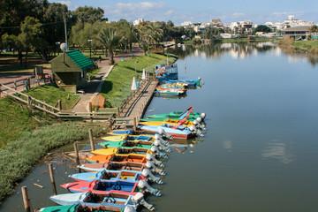 Yarkon river in Israel