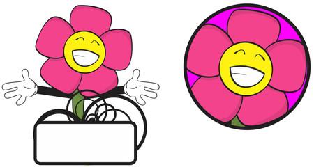 flower funny cartoon expression copyspace1