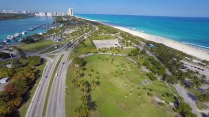 Aerial video Haulover Park Miami