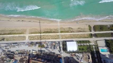 Cranes aerial video footage