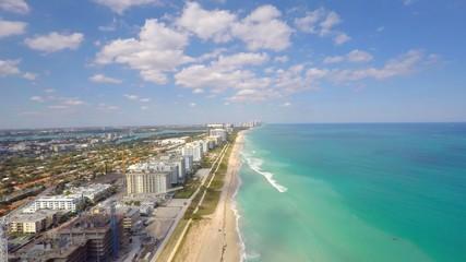 Aerial video Miami Beach 4k