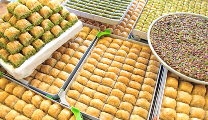 Turkish baklava and sweets