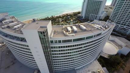 Aerial video Miami Beach hotels