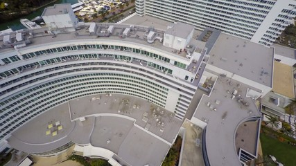 Fontainebleau Hotel Miami Beach aerial video