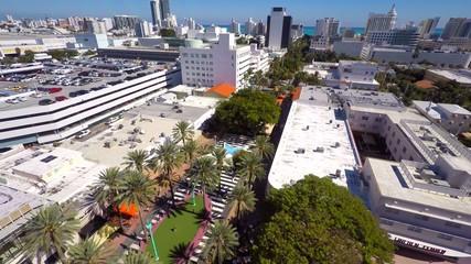 Lincoln Road Miami Beach aerial video 4k