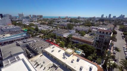 Lincoln Road Miami Beach aerial video
