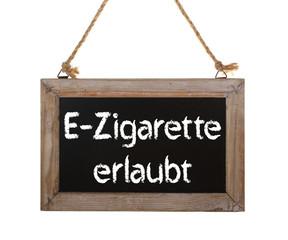 E-Zigarette erlaubt / Aushang freigestellt